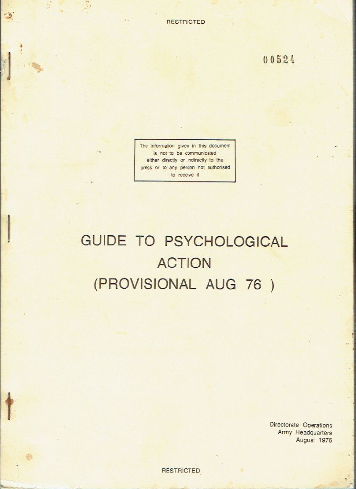 Guide To Psychological Action (Provisional Aug 76)