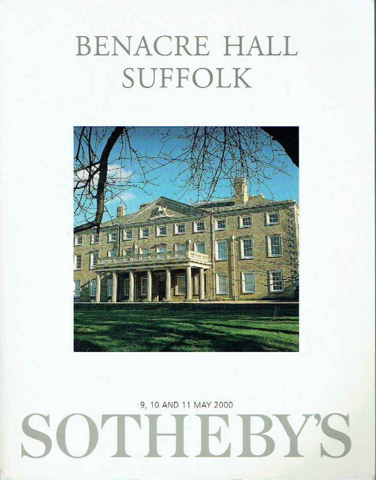 Benacre Hall Suffolk : The Property of the Estate of the Late Sir John Gooch, 12th Bt.