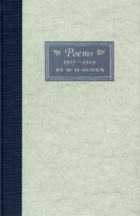 Poems 1927-1929 : A Photographic and Typographic Facsimile of the Original Notebook in the Berg...