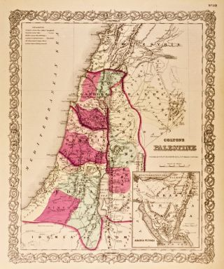 Colton's Palestine [Map of]. G. W. Colton, C B