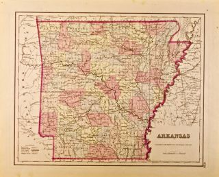 Arkansas [Map of]. J. H. Colton