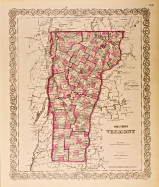 Colton's Vermont [Map of]. G. W. Colton, C B