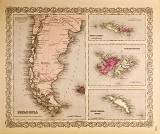 Patagonia, South Orkney or Powell's Group, Falkland Islands, South Georgia Island [Map of]. G. W....