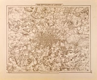 The Environs of London [Map of]. J. H. Colton