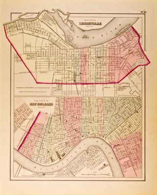The City of Louisville, Kentucky [and] The City of New Orleans, Louisiana [two maps on one sheet]...