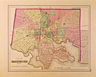 City of Baltimore, Maryland [Map of]. J. H. Colton