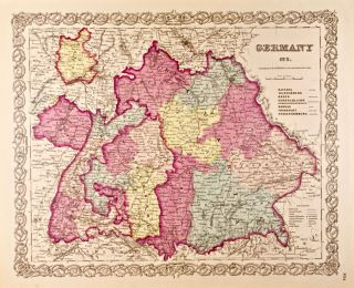 Germany No. 3 [Southern] [Map of]. J. H. Colton