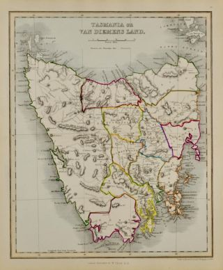 Tasmania or Van Diemens Land [Map of